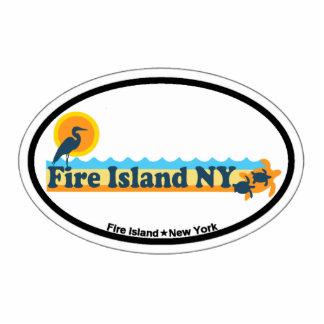 Fire Island. Photo Sculpture Magnet