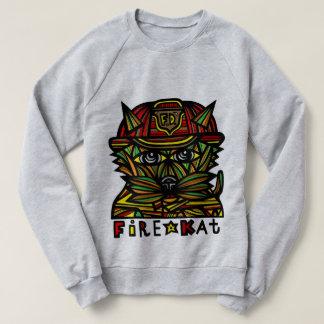 """""""Fire Kat"""" Men's Raglan Sweatshirt"""