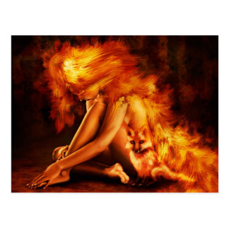 Fire Lady Postcard