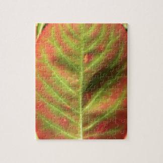 Fire Leaf Jigsaw Puzzle