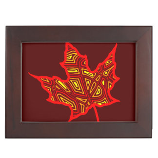 Fire Leaf Keepsake Boxes