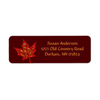 Fire Leaf Custom Return Address Labels