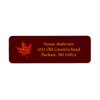 Fire Leaf Return Address Label