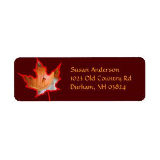 Fire Leaf Return Address Label
