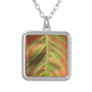 Fire Leaf Silver Plated Necklace
