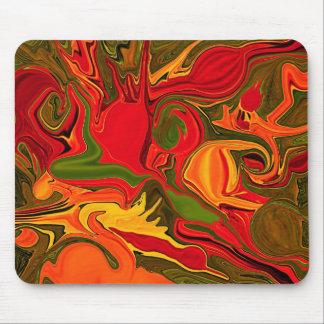 fire light modern art mouse pad