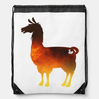 Fire Llama Drawstring bag