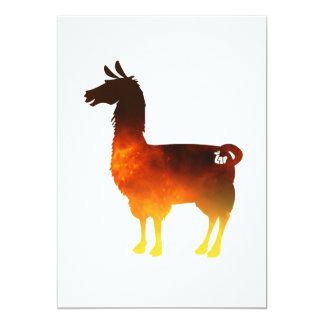 Fire Llama Invitation
