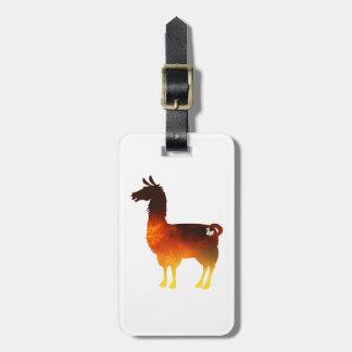 Fire Llama Luggage Tag