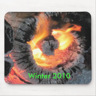Fire Log Burning Inside-Out Mouse Pad