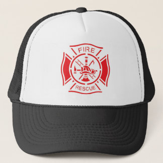 Fire logo trucker hat