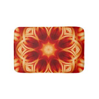 Fire Lotus Mandala Bathroom Mat