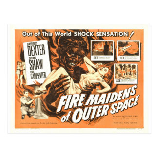 FIRE MAIDENS OF OUTER SPACE POSTCARD