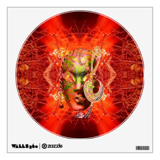Fire Mask Wall Decal