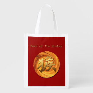 Fire Monkey Year 2016  Chinese New Year Reusable Grocery Bags
