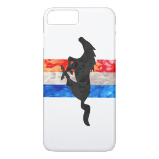 Fire Mustang Red White & Blue iPhone 8 Plus/7 Plus Case