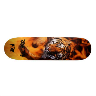 Fire of the tiger! skateboard