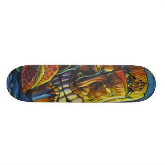 Fire of the Tiki god Custom Skateboard