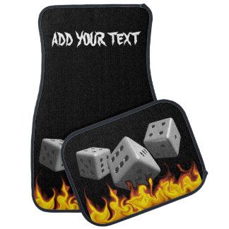 Fire on Dice Floor Mat