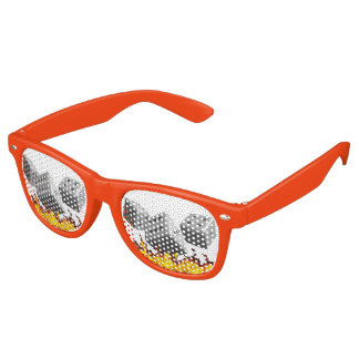 Fire on Dice Retro Sunglasses