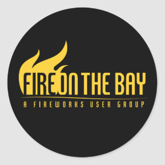 Fire On The Bay - Stickers! Classic Round Sticker