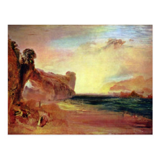 Fire On The Sea By Turner Joseph Mallord William Postcard