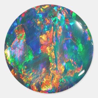 Fire Opal Classic Round Sticker