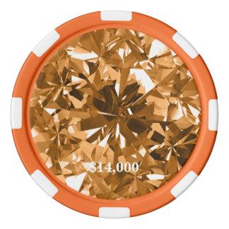 Fire Opal Honeysuckle Orange Gem Stone Poker Chip