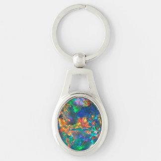 Fire Opal Keychain