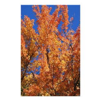 Fire Orange Tree Stationery