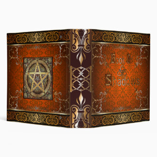 🔮Fire Orange Witches Book Of Shadows🔮 3 Ring Binder