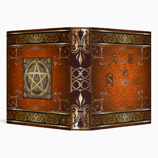 🔮Fire Orange Witches Book Of Shadows🔮 Binder