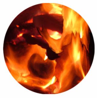 Fire Photo Sculpture Ornament
