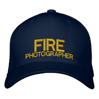 Fire Photographer Baseball Hat Embroidered Hat