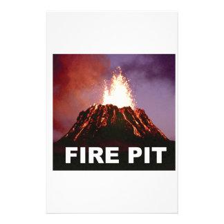 fire pit art stationery