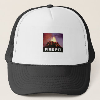 fire pit art trucker hat