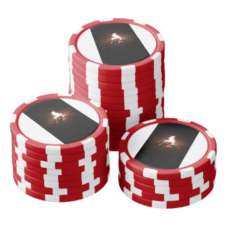 Fire pit clay poker chis poker chip set