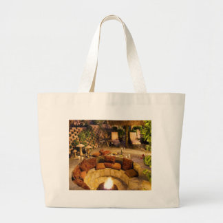 Fire Pit Large Tote Bag