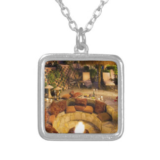 Fire Pit Silver Plated Necklace
