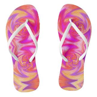fire print flip flops