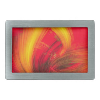 Fire Rectangular Belt Buckle