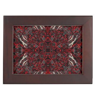 Fire Red Black Zebra Abstract Keepsake Boxes