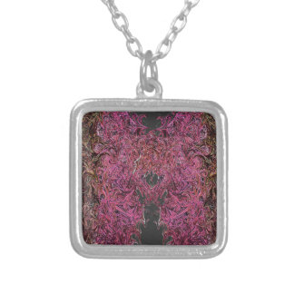 Fire reflections silver plated necklace