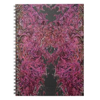 Fire reflections spiral notebook