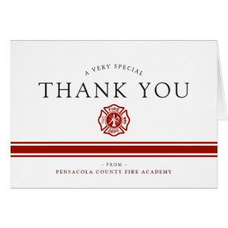Fire Rescue Academy Custom Congrats Card