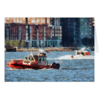 Fire Rescue Boat Hudson River Card