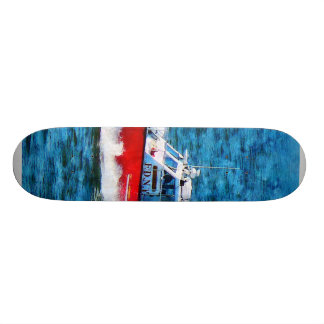 Fire Rescue Boat Skate Board Deck