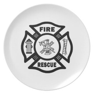 Fire Rescue Dinner Plate