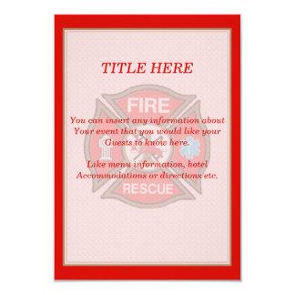 Fire-Rescue EMT Wedding Insert Card