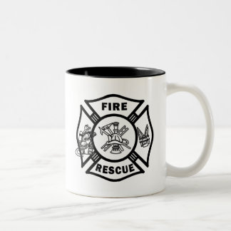 Fire Rescue Firefighters Two-Tone Coffee Mug